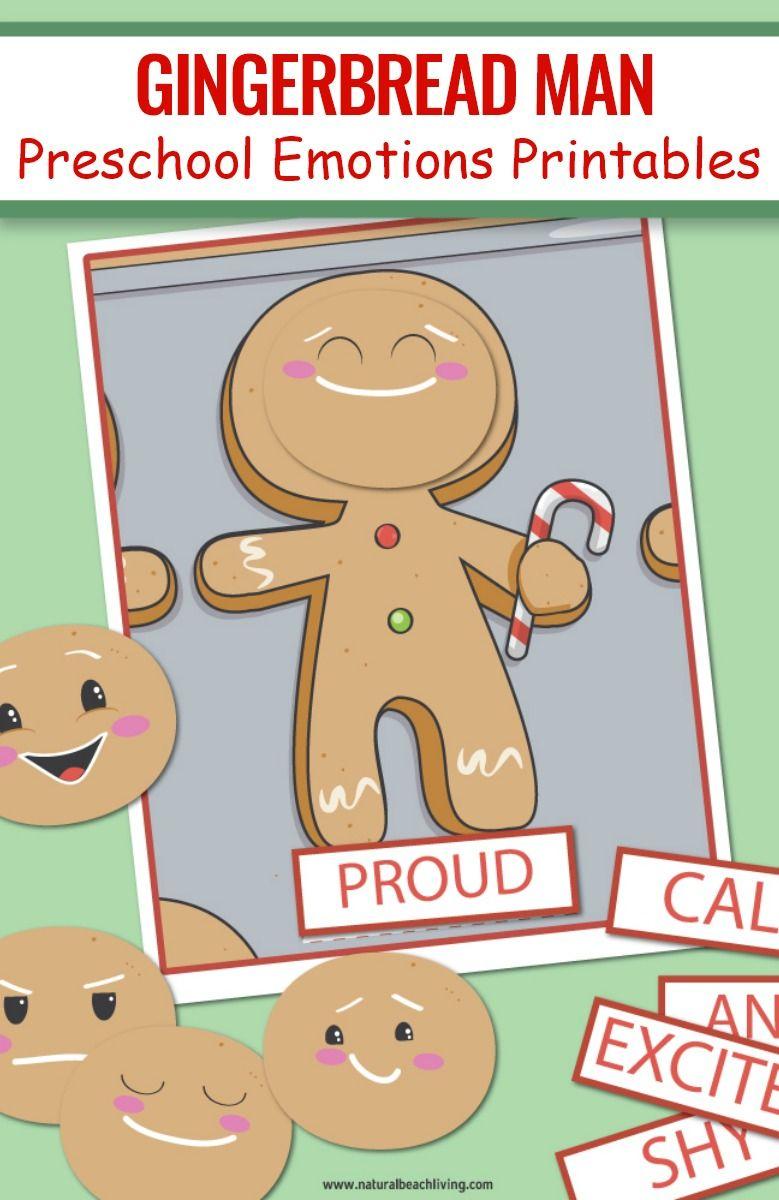 Gingerbread Man Preschool Emotions Printables Natural Beach Living Gingerbread Man Preschool Preschool Christmas Activities Gingerbread Man Activities [ 1200 x 779 Pixel ]