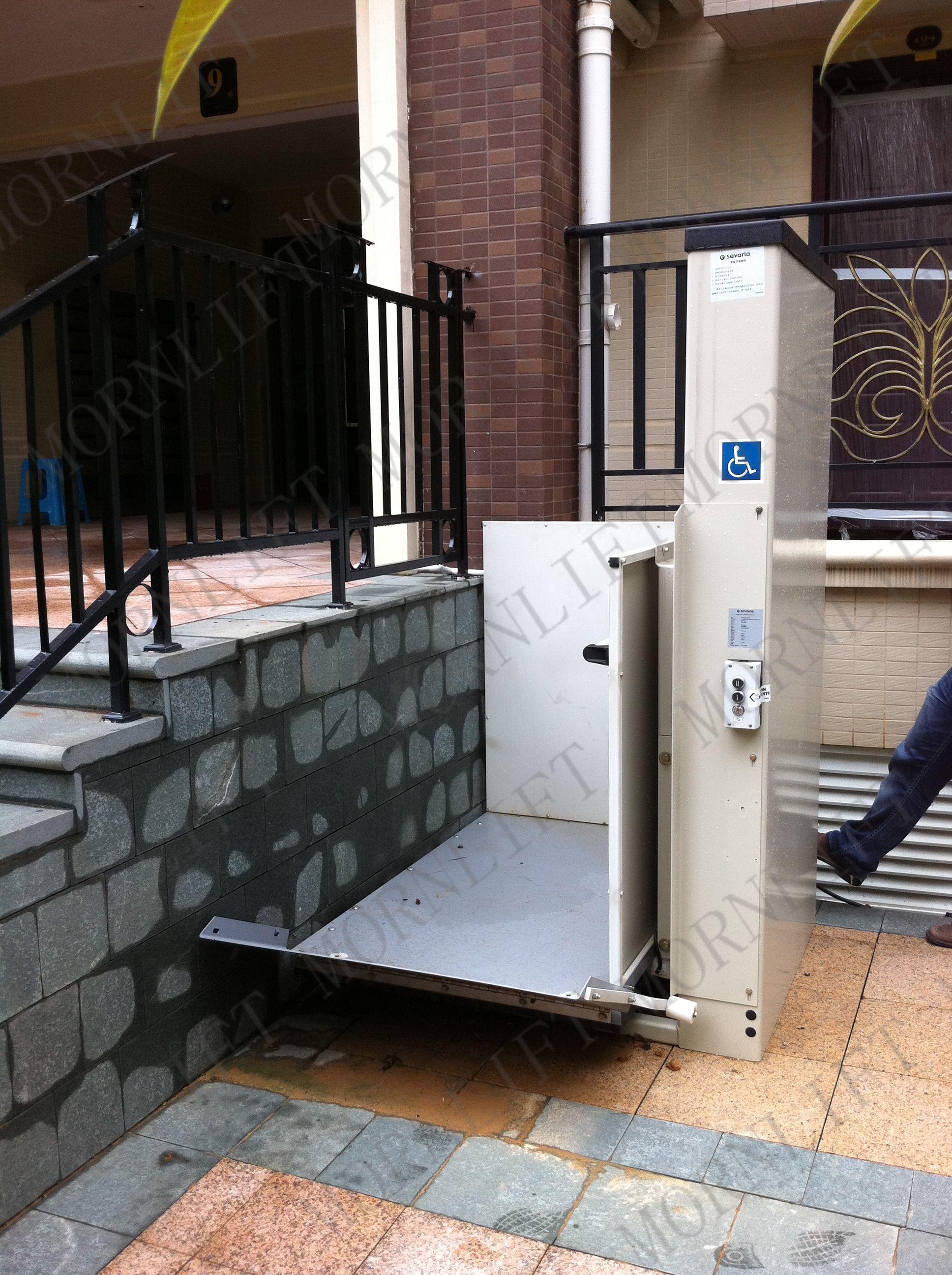 Wheelchair Elevator Slingback Patio Chairs Repair Lift Vertical Platform Disabled