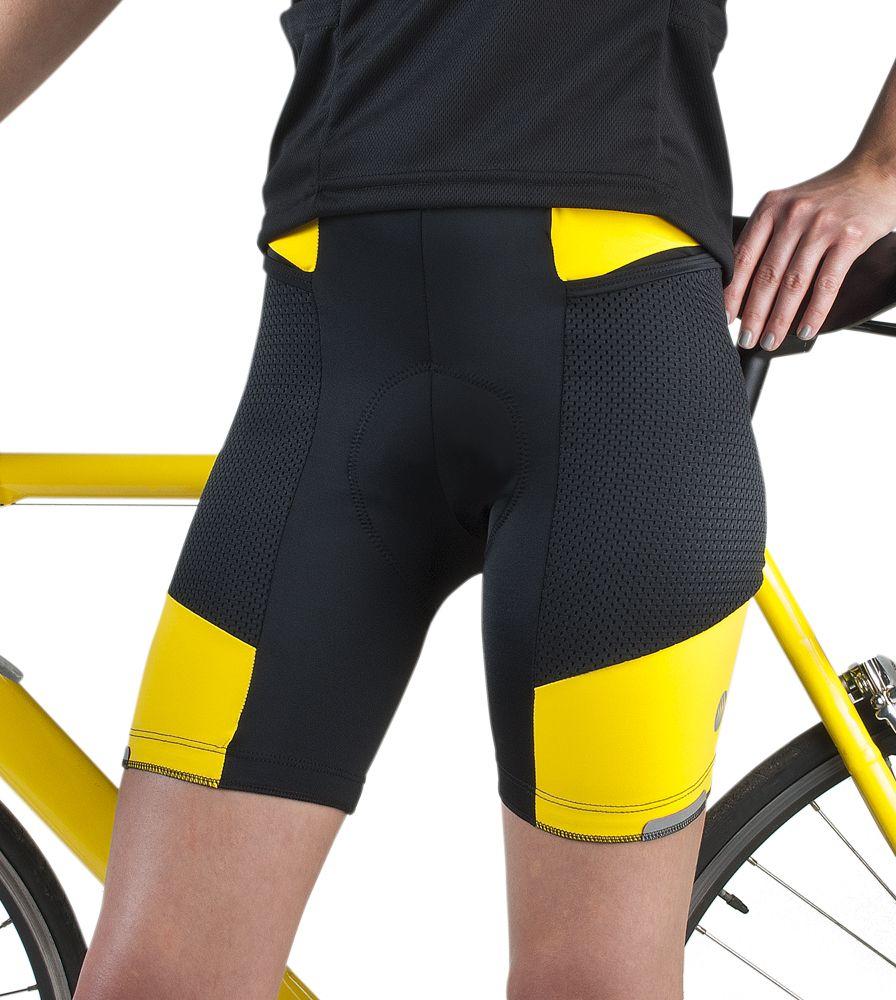 Aero Tech Women S Gel Padded Spandex Bicycle Touring Short