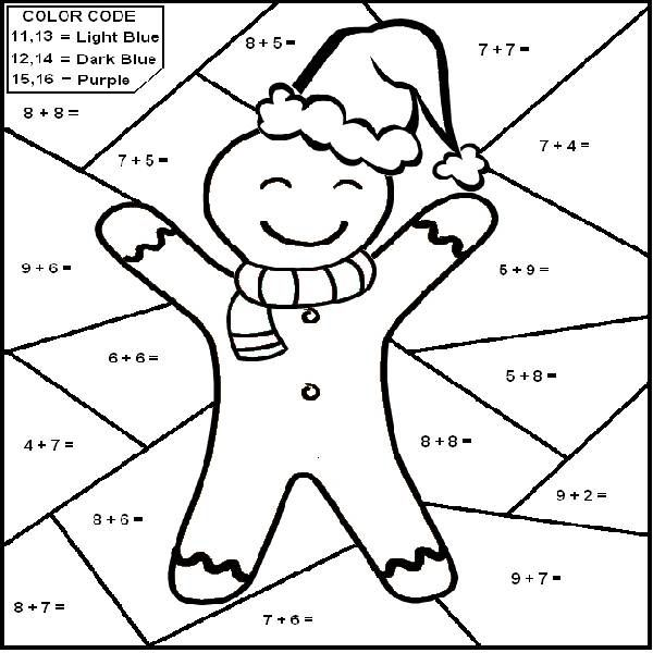 Coloringsco Christmas Math Coloring Pages