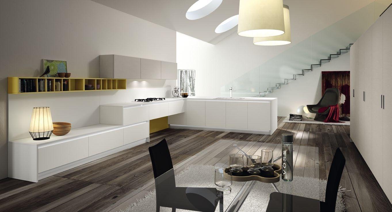 Cucine Moderne Senza Pensili.Cucina Senza Pensili Cucine Cucine Cucine Moderne E