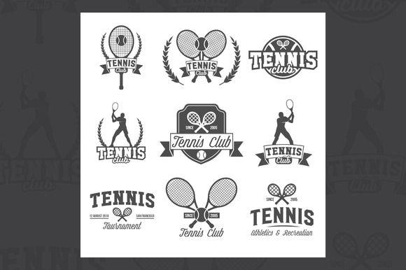 Tennis Sports Logo And Labels Sports Logo Logo Set Tennis
