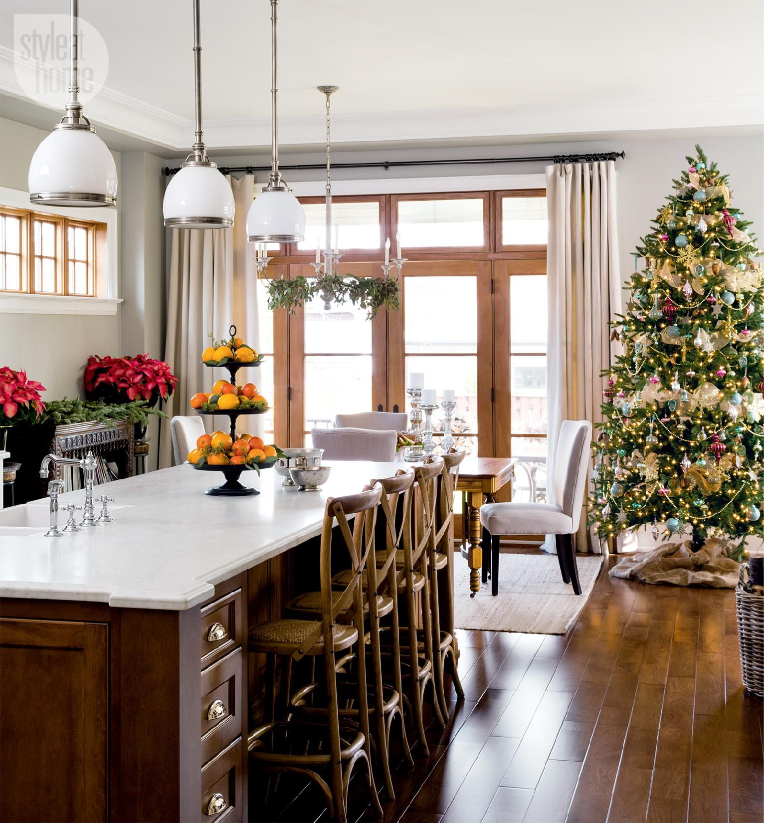 A Canadian Home Styled For Christmas With Natural Elements With