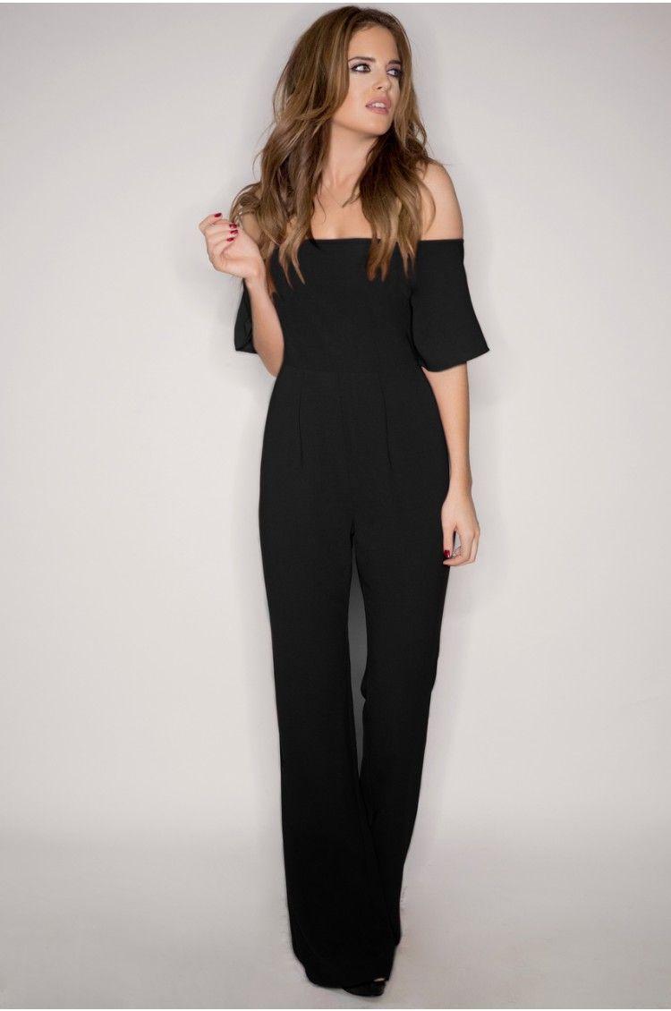 Binky Black Off The Shoulder Jumpsuit | *!la mode!* | Pinterest ...