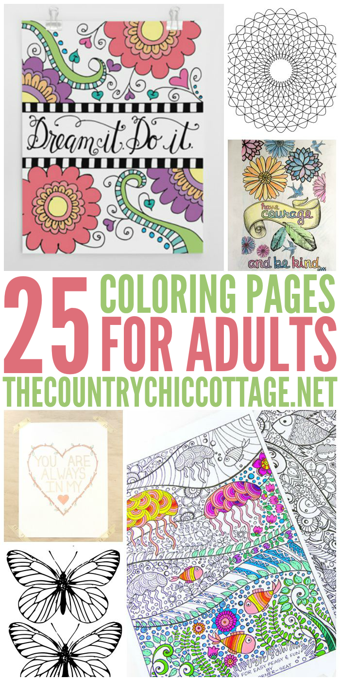Get 25 FREE Coloring Pages For Adults That You Can Print From Home