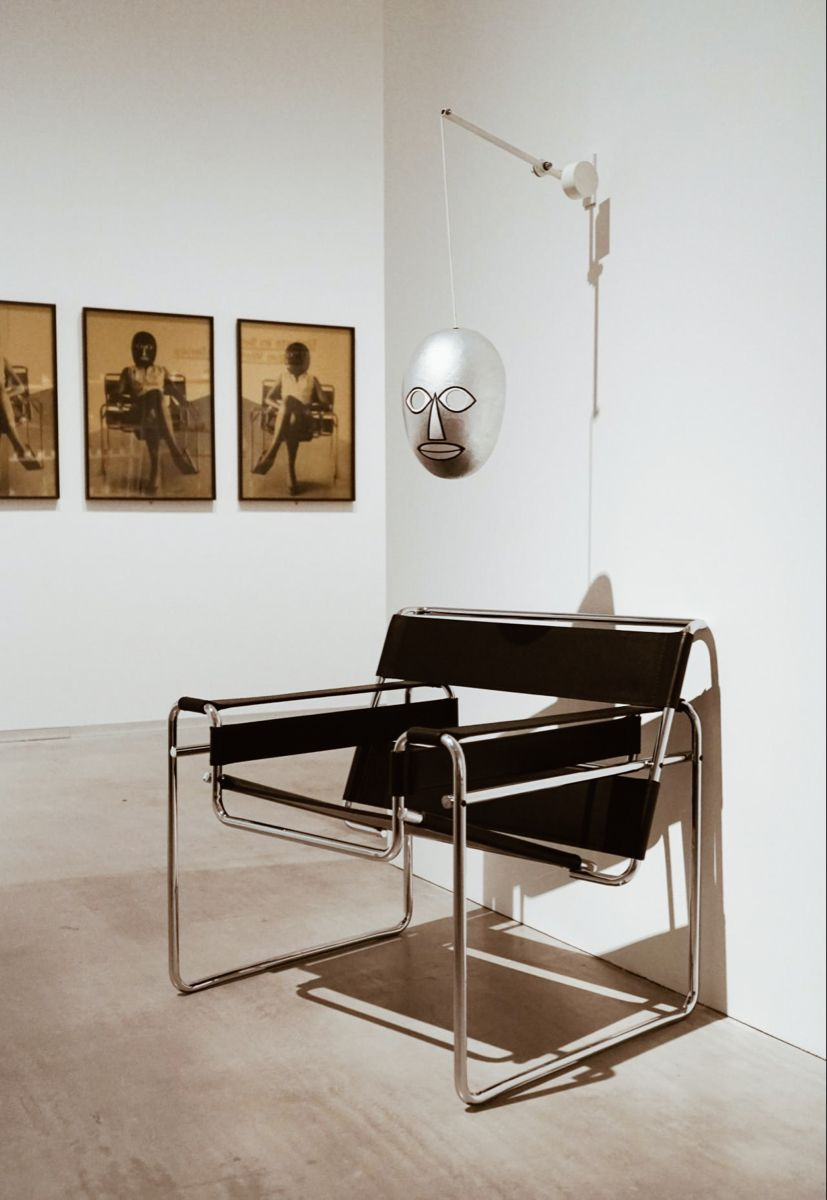 The Wassily Chair, designed at the Bauhaus in 1925 by