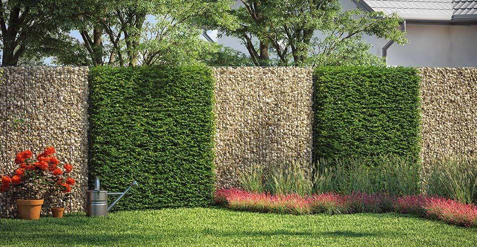 Gabionen ganz einfach selber bauen Garten landschaftsbau