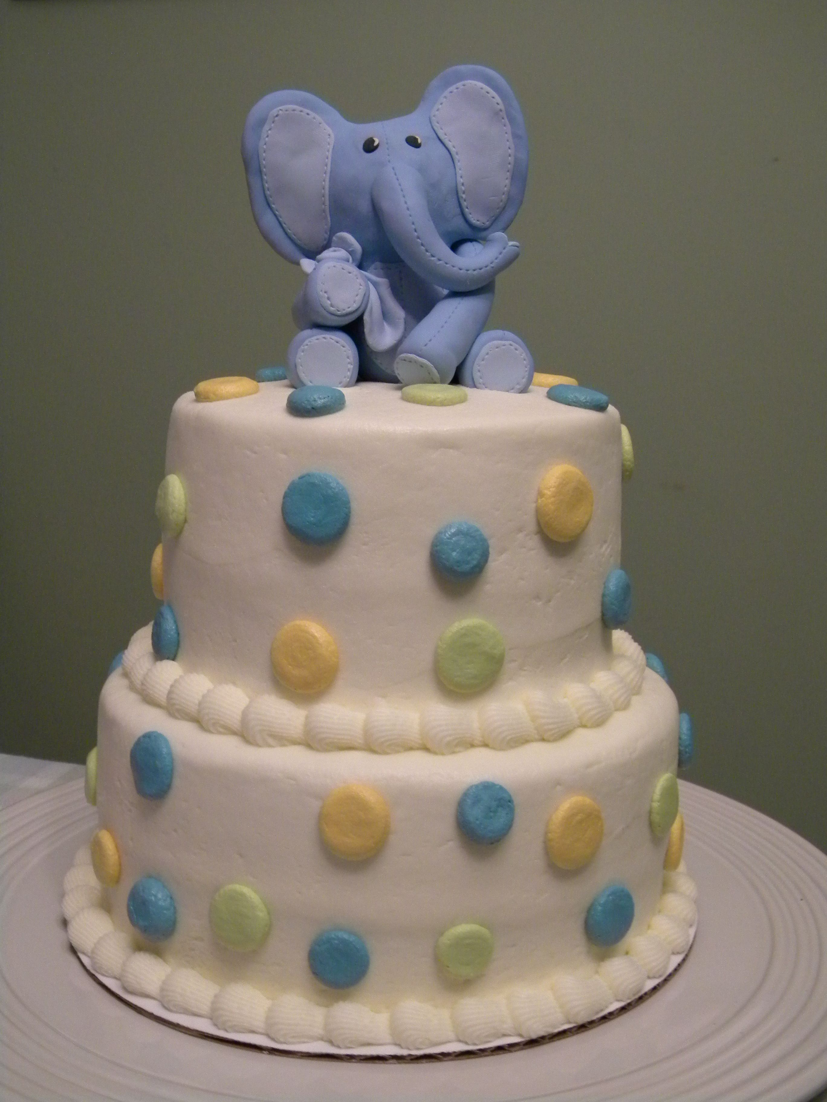 noahs ark baby shower ideas for baby shower party. Baby Boy Shower Cake With Polymer Elephant Topper! Perfect For The Plush Noah\u0027s Ark Noahs Ideas Party