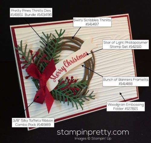 Photo of Holiday Wreath Christmas Card Idea (Mary Fish, Stampin' Pretty The Art of Simple & Pretty Cards)