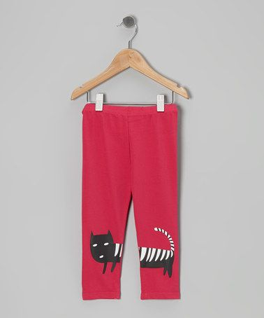 Take a look at this Red Cat Leggings - Toddler & Girls by Dolce Liya on #zulily today!