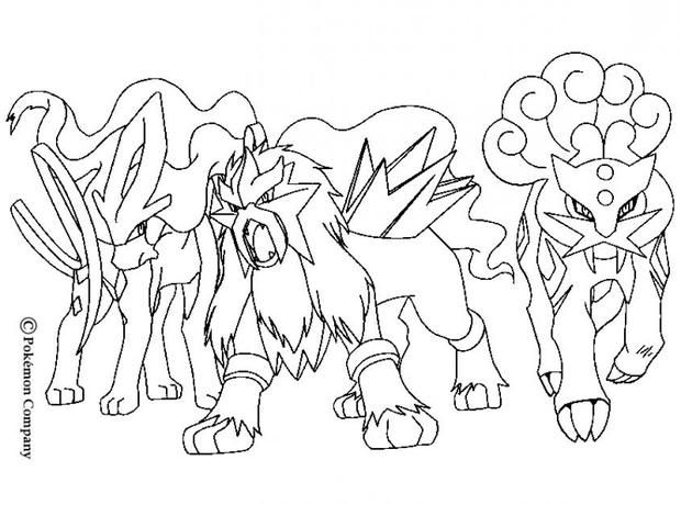 Raikou And Electric Friends Coloring Pages Hellokids Com Pokemon