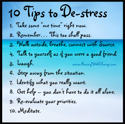 (tips to help you de-stress)