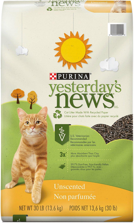Yesterday's News Original Formula Cat Litter, 30lb bag