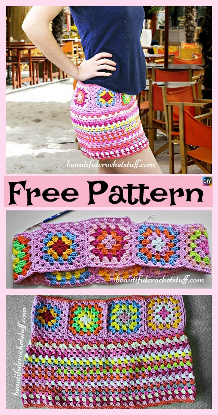 8 Beautiful Crochet Summer Skirt Free Patterns | Häkeln ...