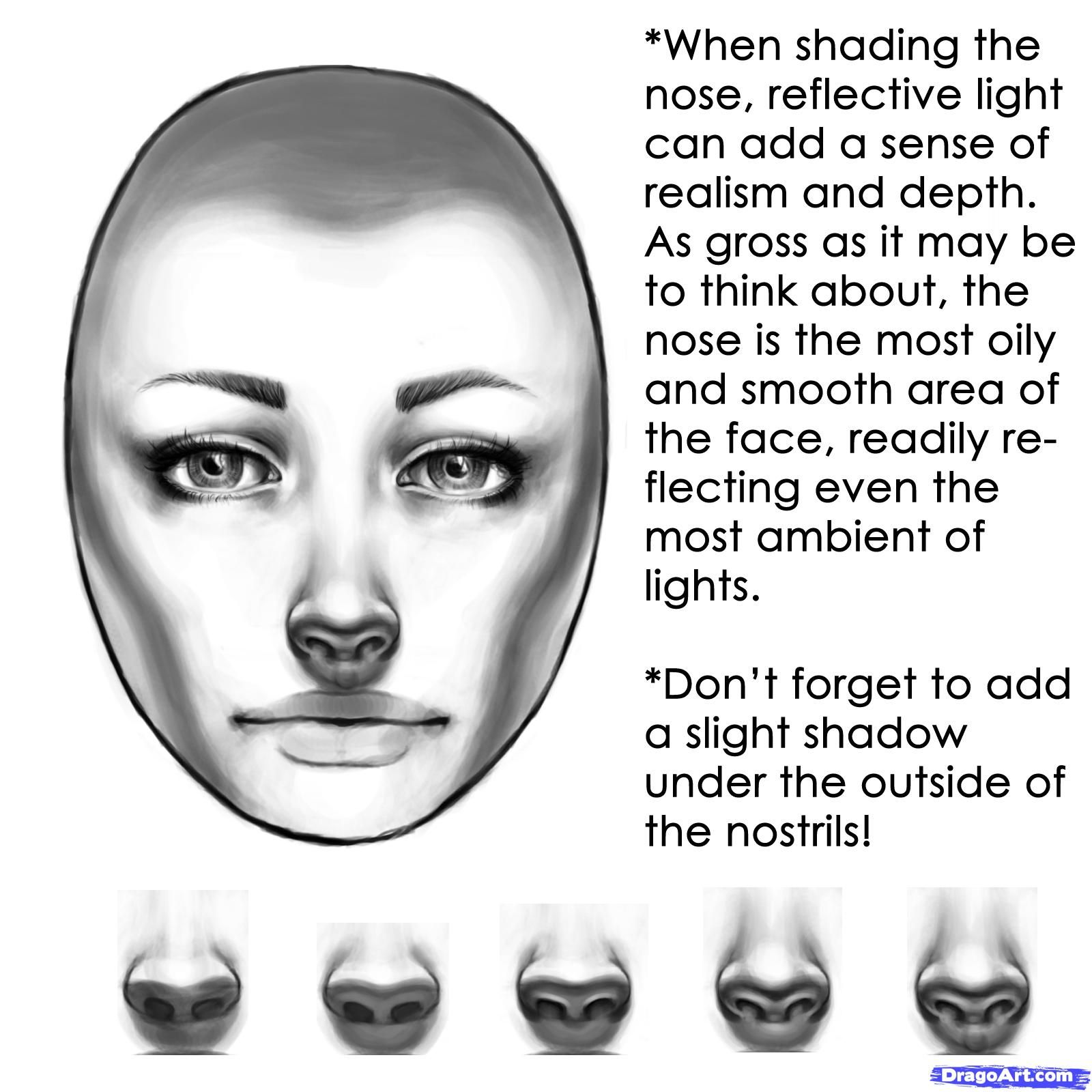 How To Shade A Face