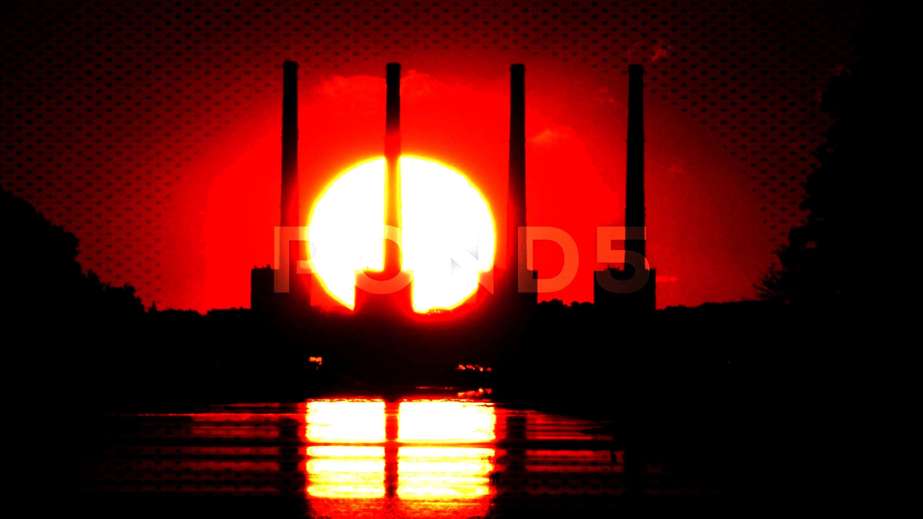 Stock Footage ,#smoke#Sunrises#stacks#FootageSunrises behind smoke stacks. Stock Footage ,#smoke#Su