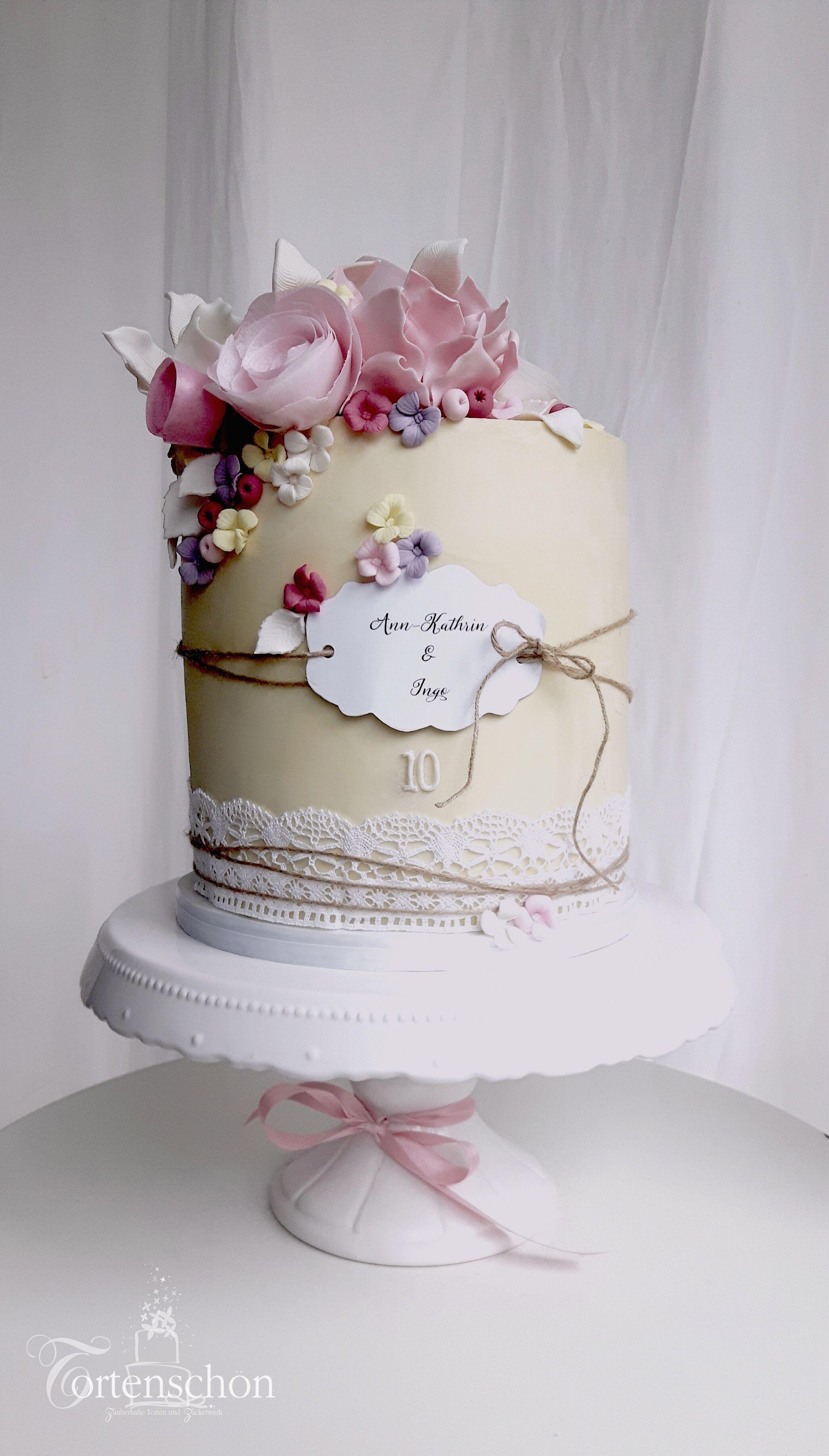 Weddingcake Von Tortenschon Www Tortenschoen De Einstockige