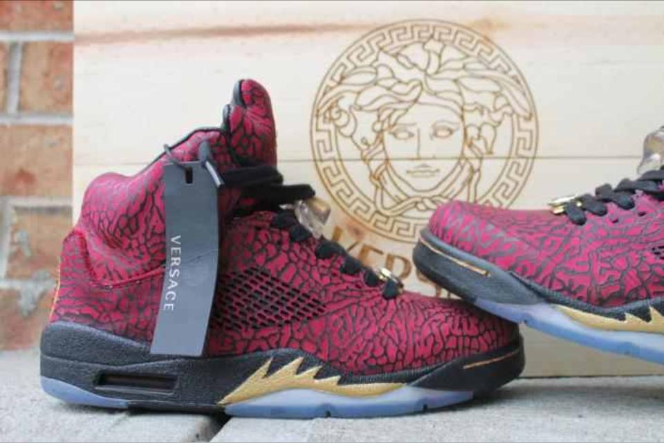 new style d04ba 90203 Jordan 3Lab5 Versace Custom Jordan 5, Air Jordans, Medusa, Versace, Sneaker,