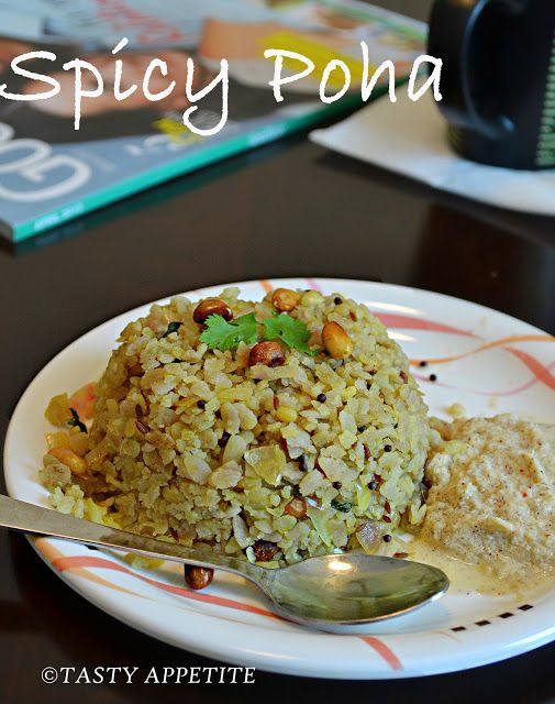 Poha Aval Upma Kande Poha Recipe Indian Food Recipes Spicy Real Food Recipes