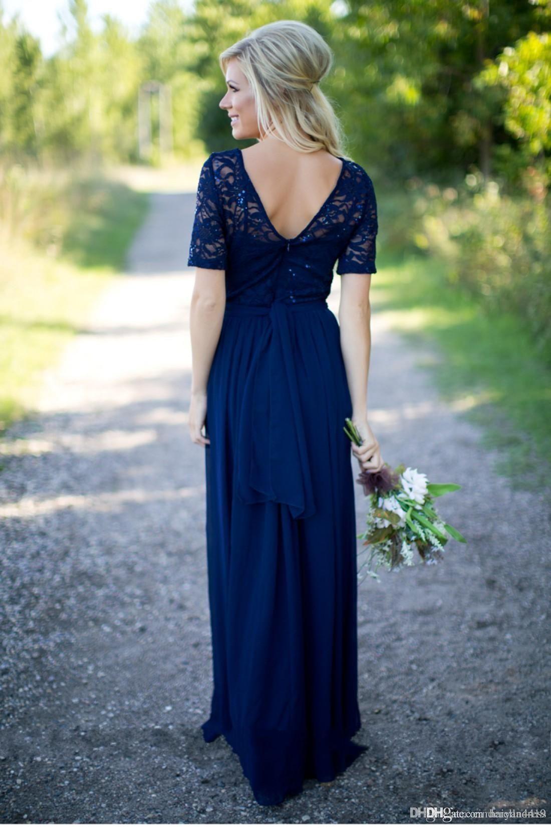 Dark purple wedding dress  Country Bridesmaid Dresses  Hot Long For Weddings Navy Blue