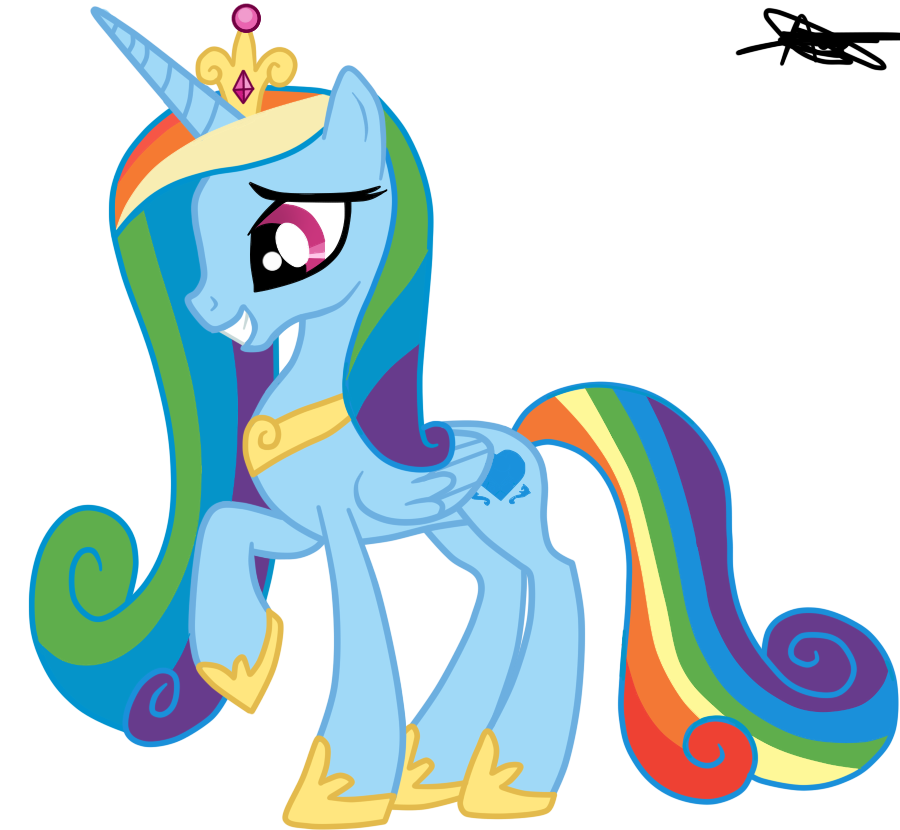 Princess cadence version rainbow dash by andreamelody on - My little pony cadence ...