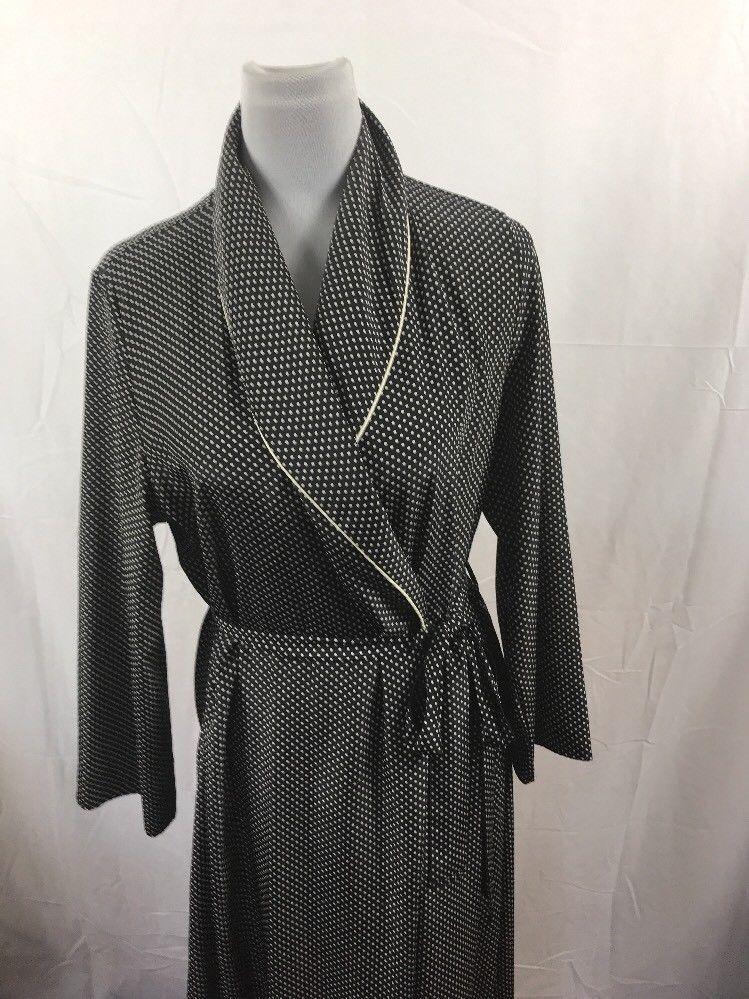 Vintage St Michael M&S Womens Sz S Long Spotty Mono Housecoat ...
