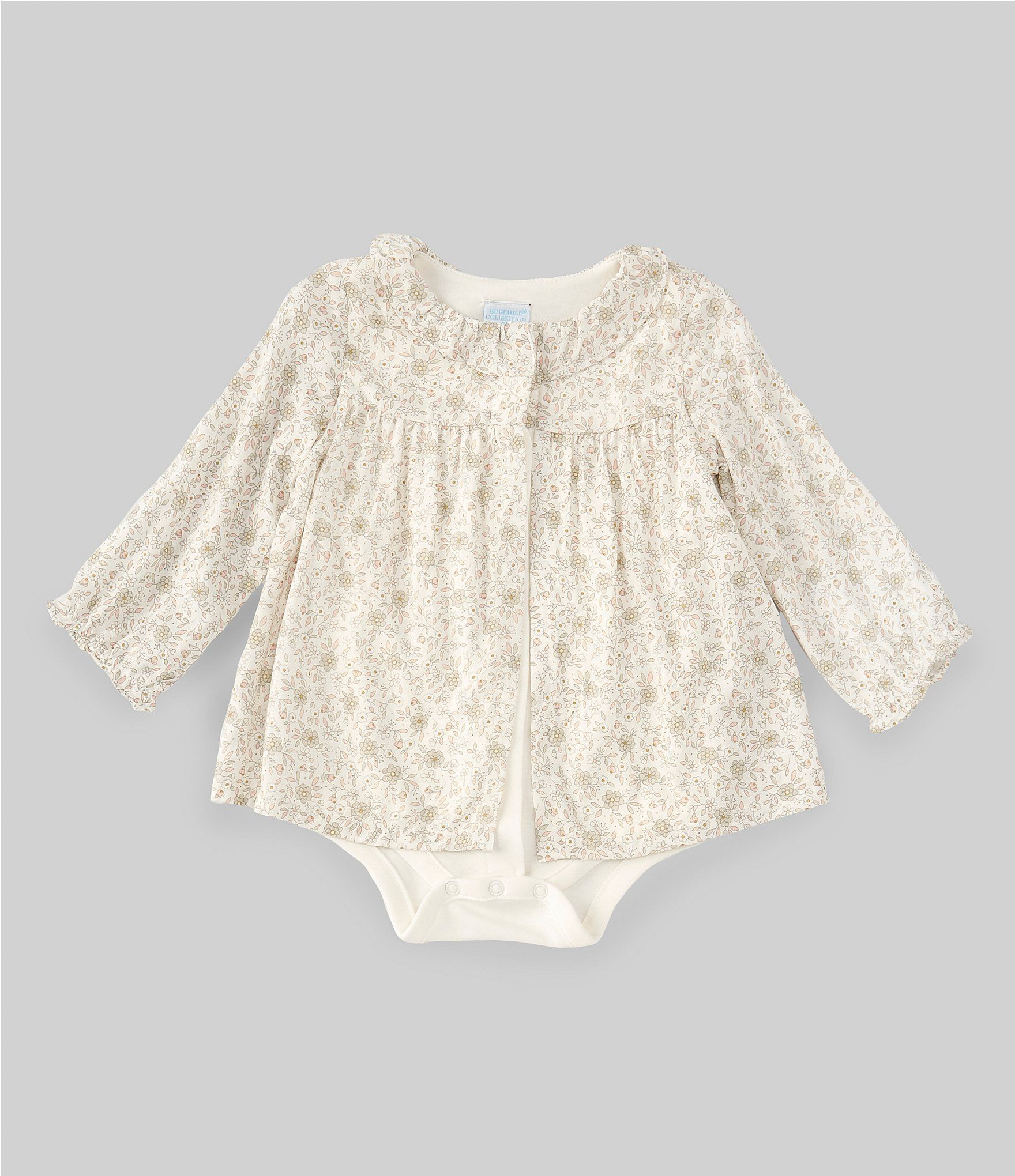 Photo of Edgehill Collection Baby Girls Newborn-6 Months Printed Dress Bodysuit   Dillard's