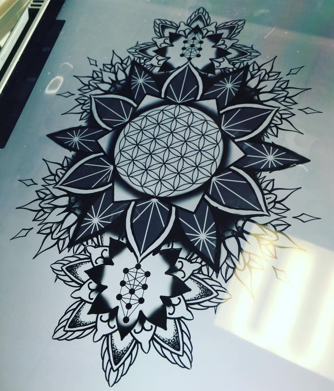 35 Spiritual Mandala Tattoo Designs: Working On A Sacred Geometry Mandala Tattoo Design For