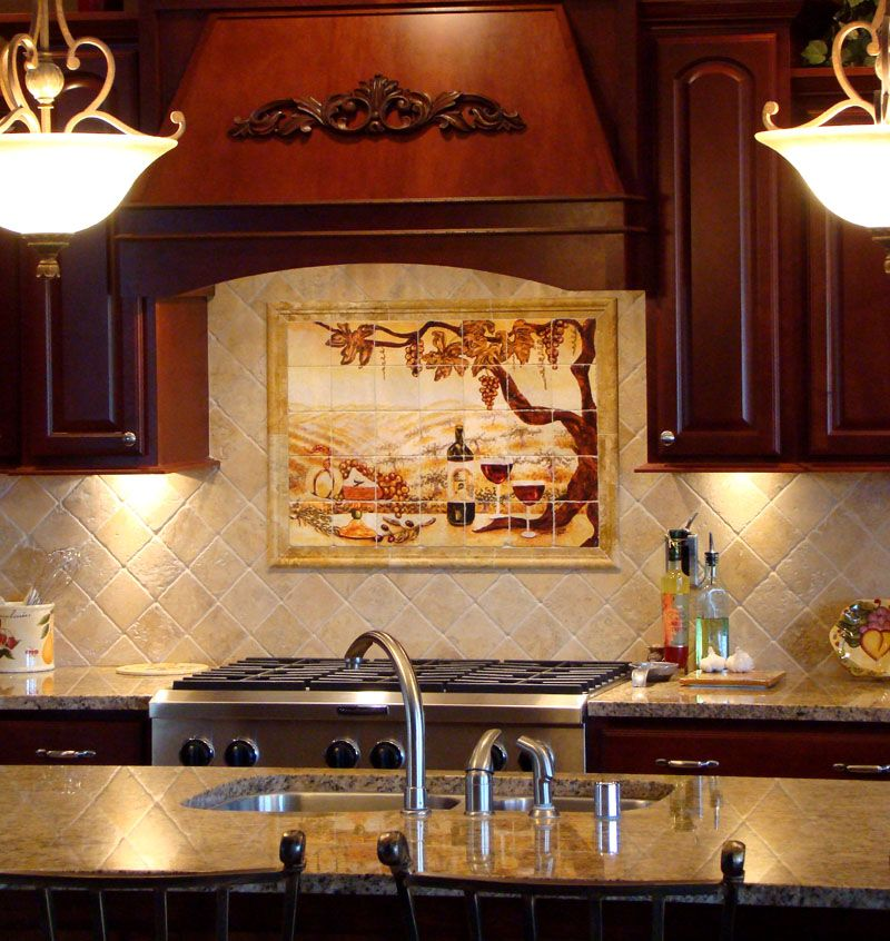 kitchen backsplash tile murals beautiful for home design ideas with ...