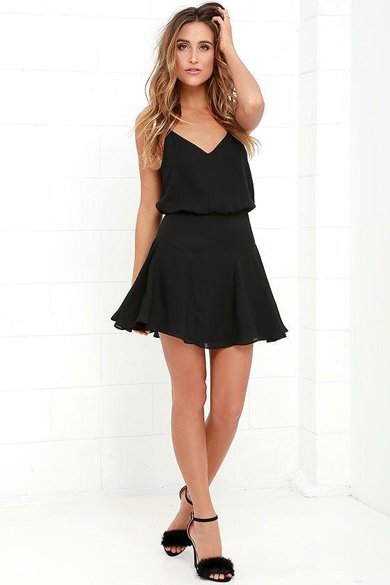 Wanna Bet? Black Sleeveless Dress