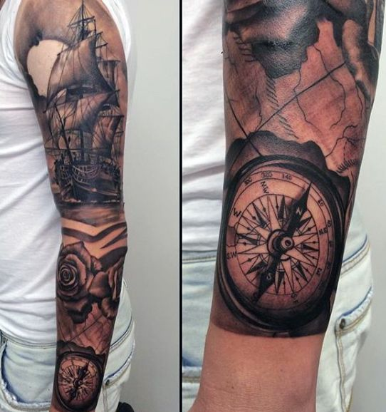 Tattoo Ideas Navy: Navy Compass Tattoo For Men