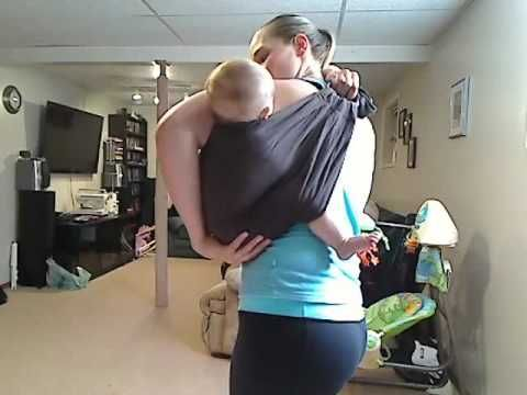 Ring Sling Back Carry with super cute baby
