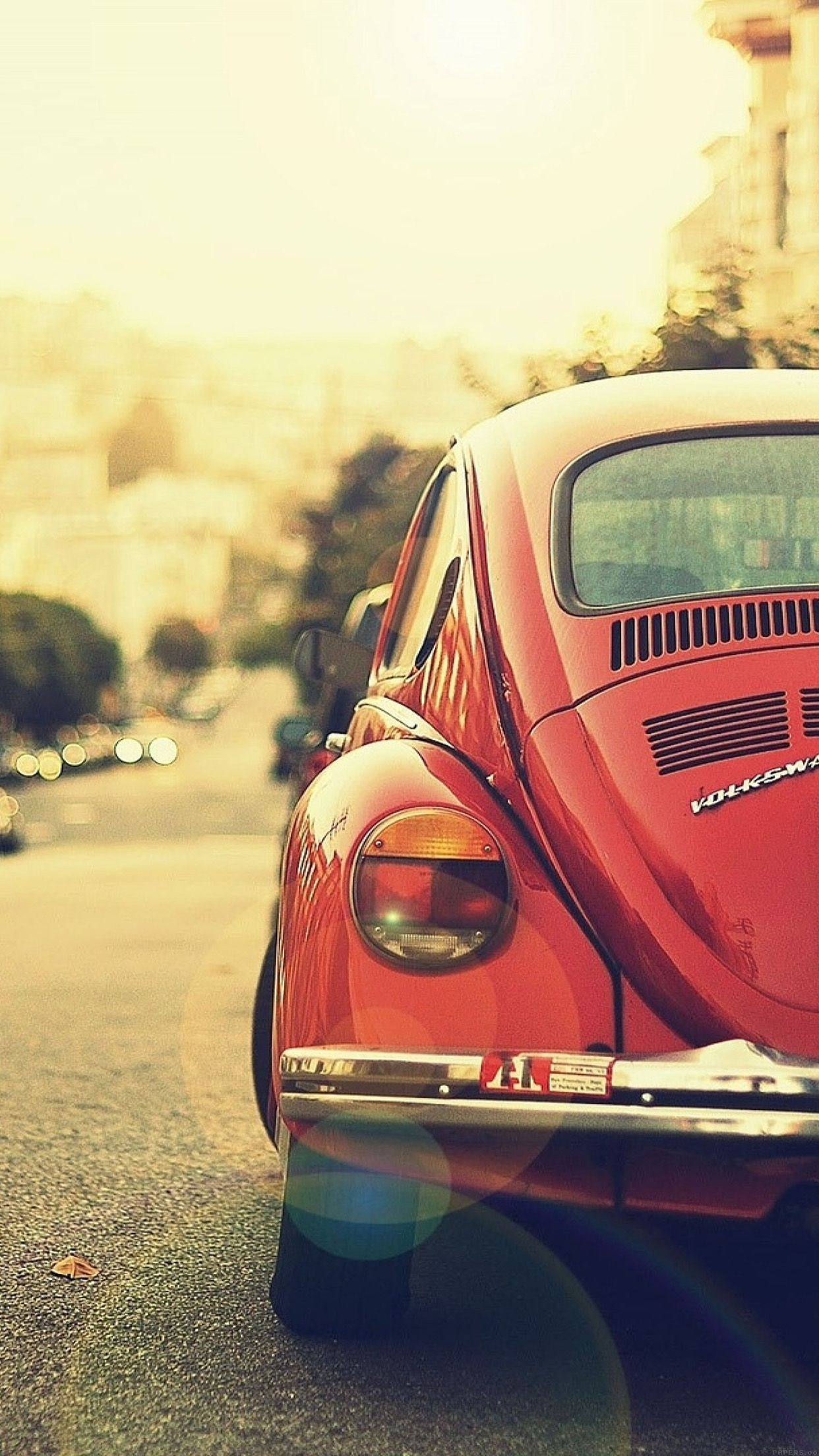 Old Car Street Vintage 34 Iphone6 Plus Wallpaper 1242x2208