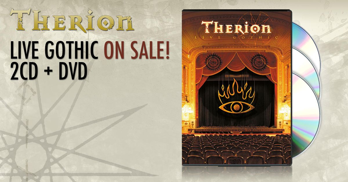 "Therion ""Live Gothic"" ON SALE! 2CD + DVD!"