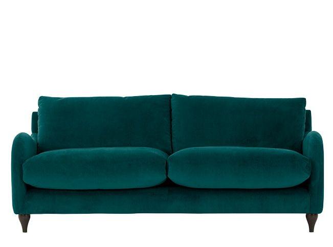 sofia canap 3 places velours vert canard j 39 aime bien canap 3 places maison et d co. Black Bedroom Furniture Sets. Home Design Ideas