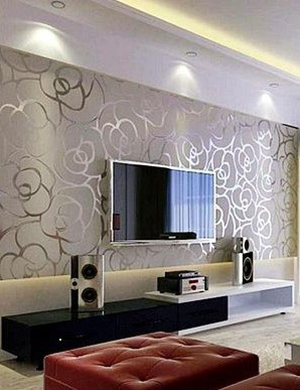 39 Modern Wallpaper Decoration For Living Room Ideas Decoration Ideas Living Modern In 2020 Wall Decor Living Room Modern Living Wall Decor Minimalist Living Room