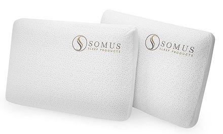Two Pack Of Somus Memory Foam Supreme Pillows 179 98 Value Memory Foam Foam Mattress