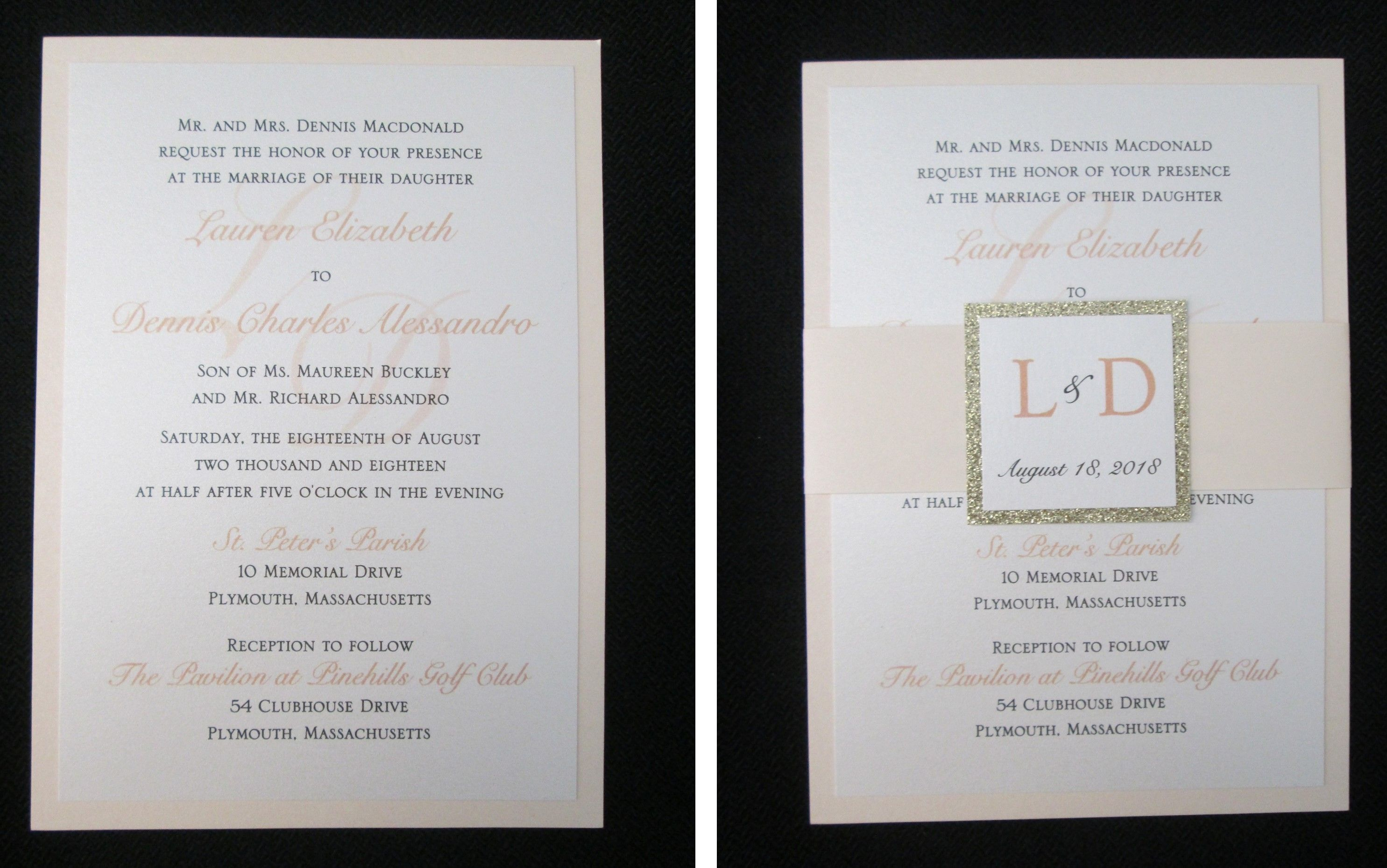 Double Layer Invitation With Belly Band: Pi Day Wedding Cards At Websimilar.org