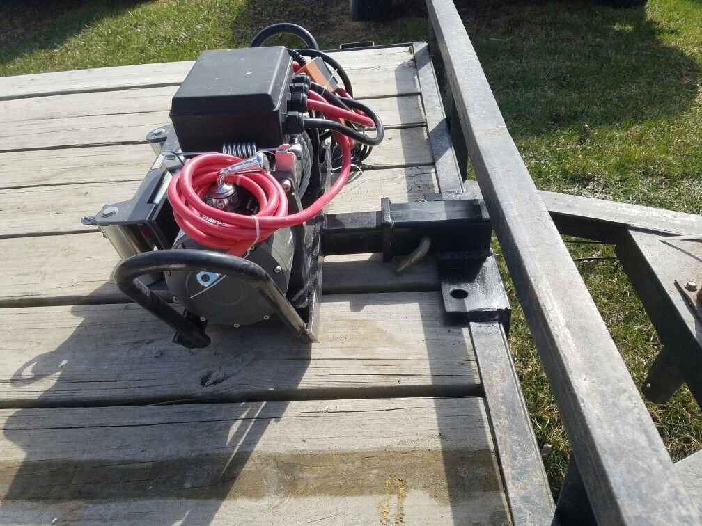 Pin By Zoltan Lantzky On Portable Winch Mount Utility Trailer Work Trailer Trailer Build