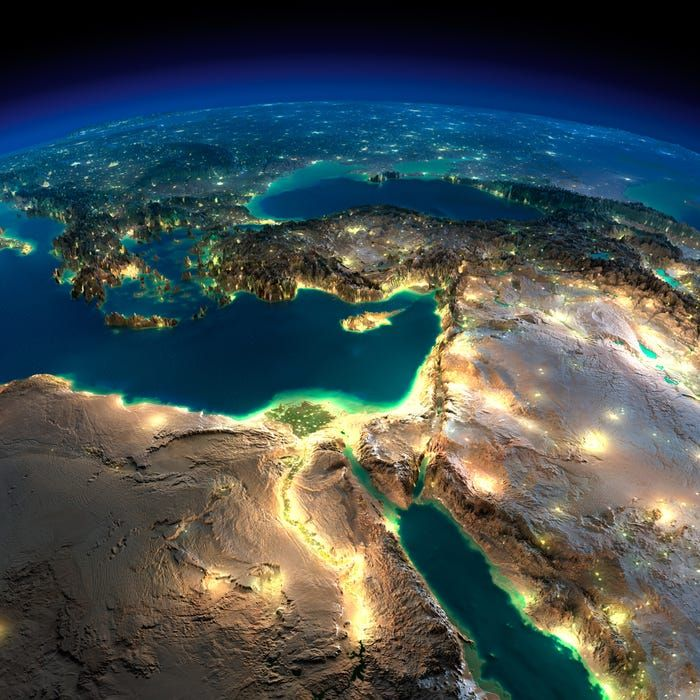19 impossibly detailed views of Earth from space at night #middleeast