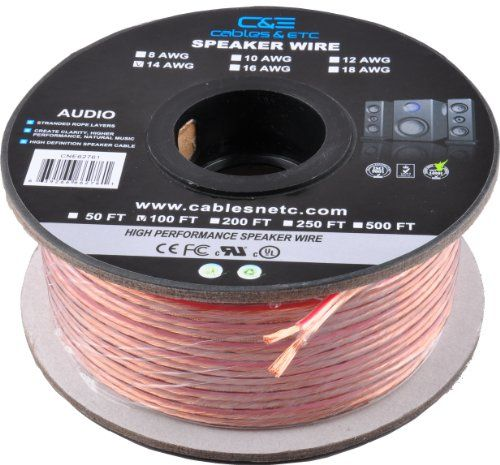 48 Off Was 59 99 Now Is 31 23 C E 100 Feet 14awg Enhanced Loud Oxygen Free Copper Speaker Wire Cable Speaker Wire High End Speakers Best Speakers