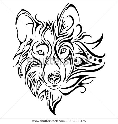 ee750f397 female wolf head - Google Search   tattoos   Wolf tattoos, Tribal ...