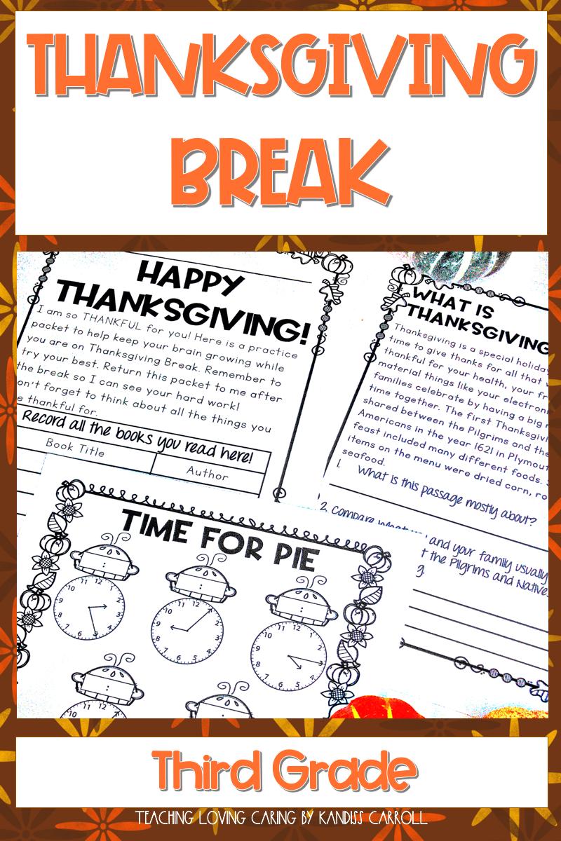 Third Grade Thanksgiving Break Packet Math Problem Solving Activities Thanksgiving Third Grade Problem Solving Activities [ 1200 x 800 Pixel ]