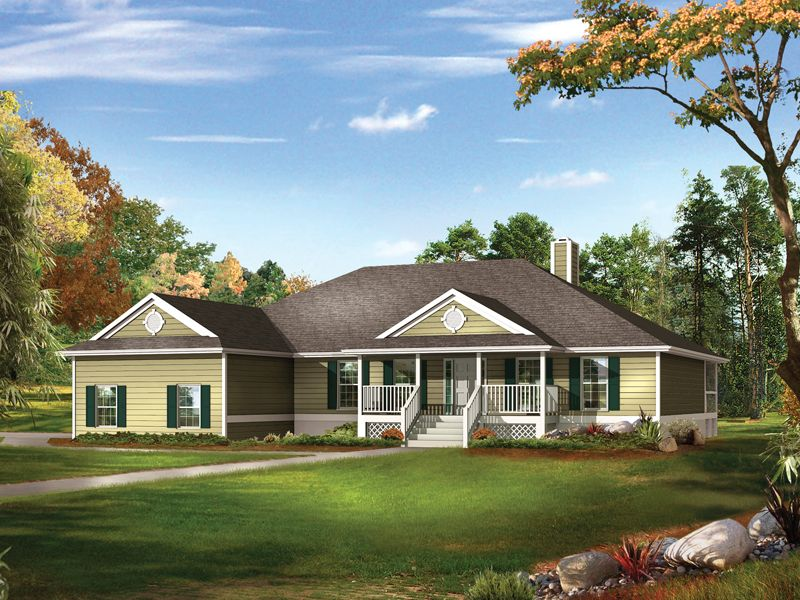 Farm Pond Country Ranch Home Ranch House Plans Modern Farmhouse Plans Layout House Plans Farmhouse