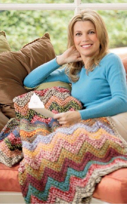 Vannas Color It Beautiful Afghans Crochet Pinterest Log Cabin