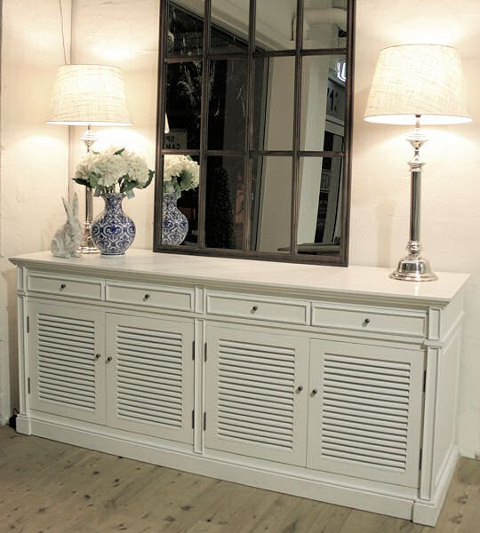 Portland French Provincial Style Buffet Or Entertainment Cabinet White By French Dressing White