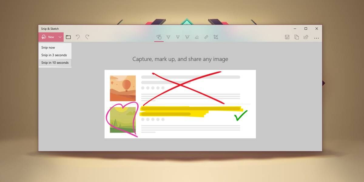 How To Take Time Delayed Screenshots With Snip And Sketch On