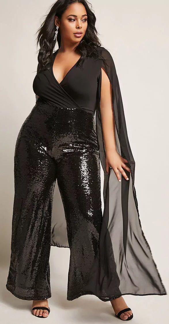 4ff30741a0feb Plus Size Sequin Jumpsuit - Plus Size Party Dress – Plus Size Cocktail Dress   plussize