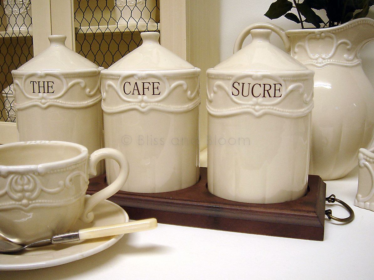Captivating French Tea Coffee Sugar Jars   Google Search