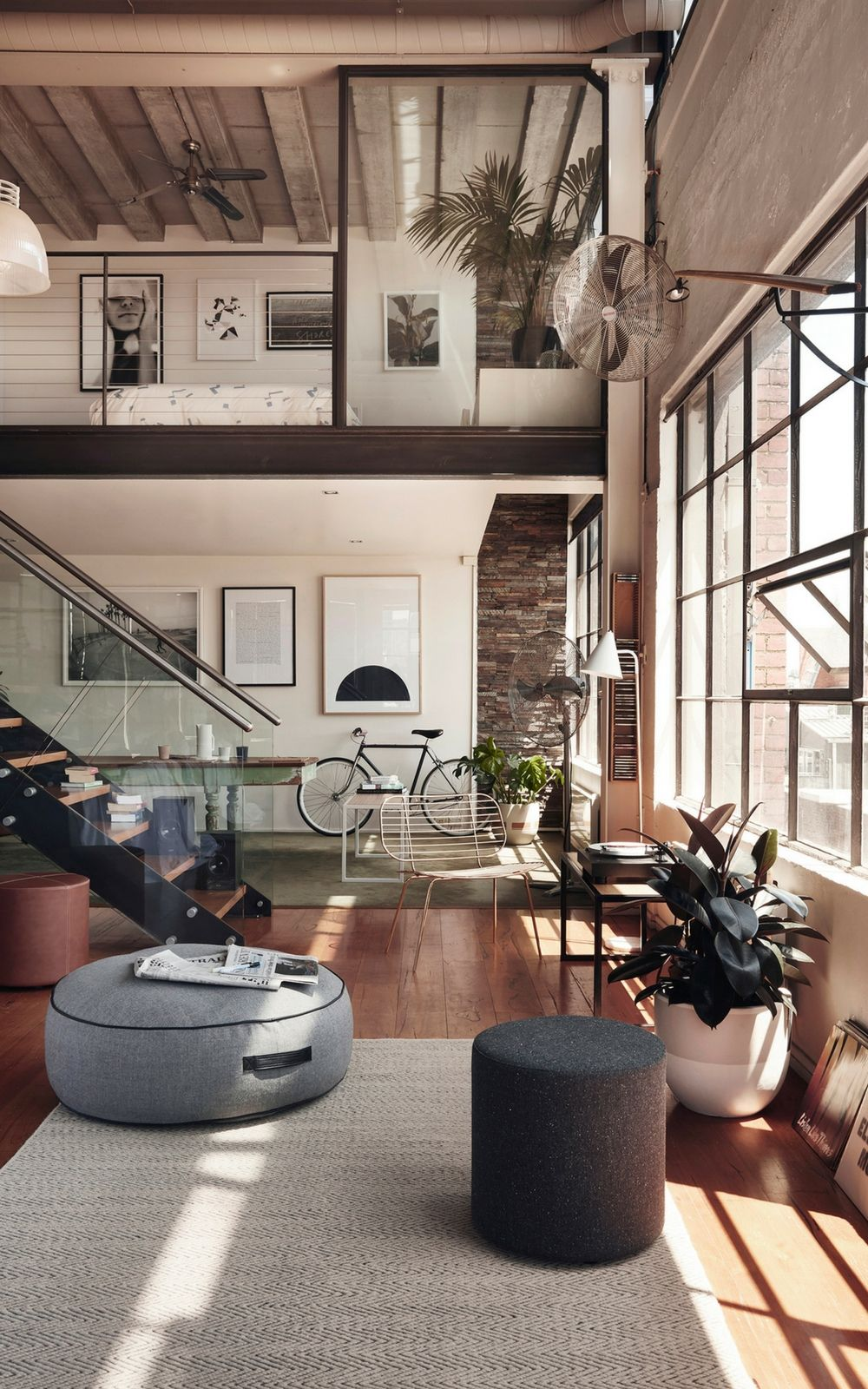 Industrial Family Home In New York